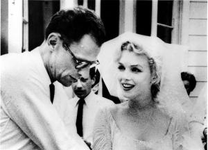 SECRET WEDDING FOR MARILYN MONROE, TO PLAYWRIGHT ARTHUR MILLER. JULY 3 1956.